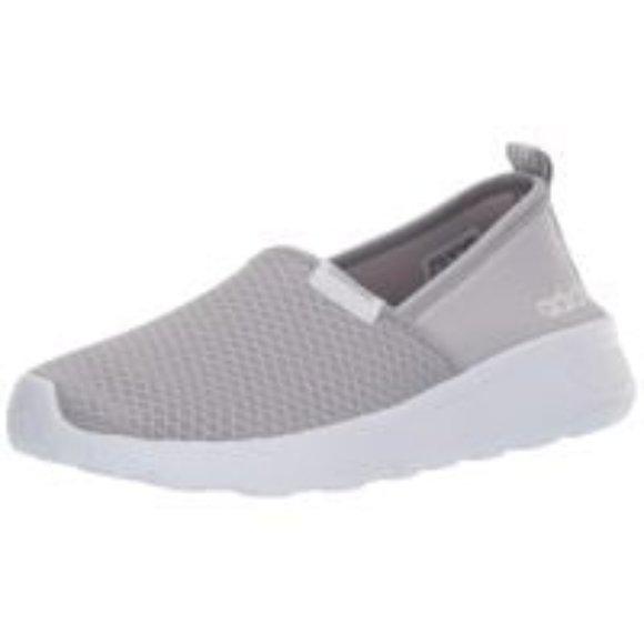 Adidas Neo Lite Racer Slip On Gray Sneakers US 7
